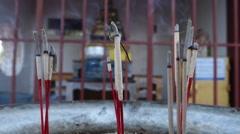 Incense Sticks, Thailand Stock Footage