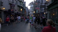 Visiting the Diagon Alley at Universal Studios, Orlando Stock Footage