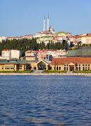 The view to the eastern bank of Golden Horn, Istanbul - stock photo
