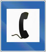 Telephone in Iceland - stock illustration