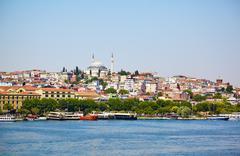 The view across Golden Horn, Istanbul Stock Photos