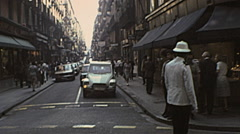 Barcelona 1976: downtown traffic Stock Footage