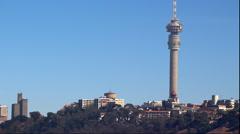 Johannesburg Skyline Pan Stock Footage