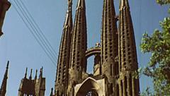 Barcelona 1976: La Sagrada Familia Stock Footage