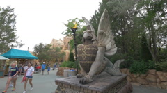 Statue in the Lost Continent at Universal Studios, Orlando - stock footage