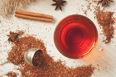 Healthy superfood beverage rooibos african tea with spices Stock Photos