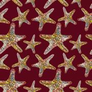 Rich Pattern with Starfish Piirros