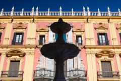 The baroque facade of Bishops palace in Malaga Kuvituskuvat