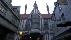 The Diagon Alley in The Wizarding World of Harry Potter, Orlando Stock Footage