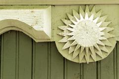 Wooden Star Shaped Building Detail Stock Photos