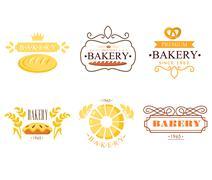 Vintage Bakery Labels - stock illustration