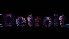 Detroit led text - stock footage
