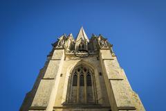 Church steeple blue sky Stock Photos