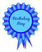 Birthday Boy Rosette Stock Illustration