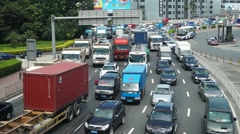 Shenzhen, China: traffic jams landscape Stock Footage