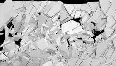 Stock Video Footage of crush wall white