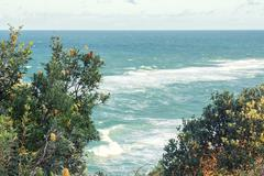 Beach view from Point Lookout - stock photo