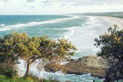 Beach view from Point Lookout Stock Photos