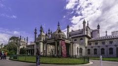 Time lapse view of the Brighton Royal pavillon - stock footage