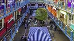 Timelapse of a shopping mall in Carnaby street Stock Footage