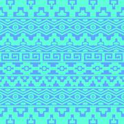 Seamless pattern with aztec ornaments - stock illustration
