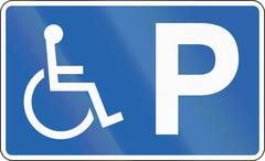 Disabled Parking in Iceland - stock illustration