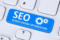 SEO Search Engine Optimization for websites on the internet Stock Illustration