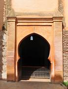 saadian tombs archway. - stock photo