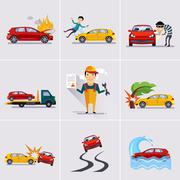 Car and Transportation Insurance Stock Illustration
