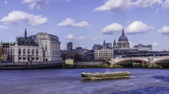 Timelapse of St Paul cathedral and Blackfriars bridge - stock footage