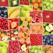 Fruit fruits background with apples, oranges, lemons Stock Photos