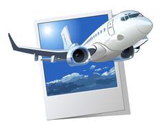 Vector Cartoon Airliner Stock Illustration