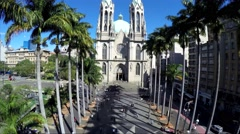 Beautiful view of Sé Cathedral in Sao Paulo, Brazil - stock footage