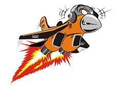 Vector Crazy Jet Stock Illustration