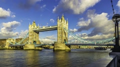 Time lapse view of Tower bridge in London Stock Footage