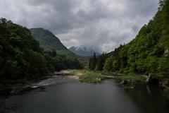 View of Shimogo, Fukushima Prefecture, Japan - stock photo