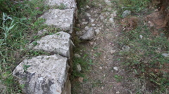 The Emmaus Road (Traditional route of Jesus) Stock Footage