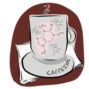 A cup of caffeine - stock illustration