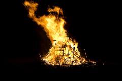 Burning inferno - stock photo