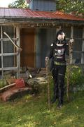 Psycho goth - stock photo