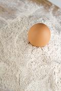 Egg on top - stock photo