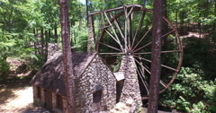 Aerial Footage of the Old Mill at Berry College near Rome Georgia 06-14-2015 Stock Footage