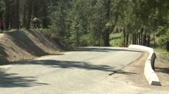 Motorsports, hillclimb, short straight, V8 powered Datsun 240z. Stock Footage