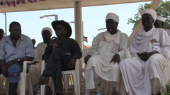 SOUTH SUDANESE LEADERS AT POLITICAL RALLY IN SOUTH SUDAN, AFRICA Stock Footage
