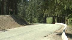 Stock Video Footage of motorsports, hillclimb, short straight, green honda civic