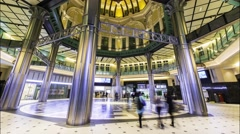 Time lapse inside Tokyo Station Stock Footage