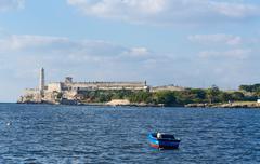 Historic El Morro fort in Havana, Cuba - stock photo