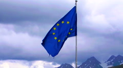 EU flag with alph background Stock Footage