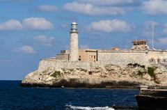 El Morro fort and lighthouse - stock photo