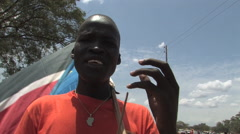 African Protester in SOUTH SUDAN, AFRICA Stock Footage